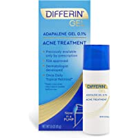 Acne Treatment Differin Gel, Acne Spot Treatment for Face with Adapalene (Up to 90 Day Supply), 45 Gram, Pump