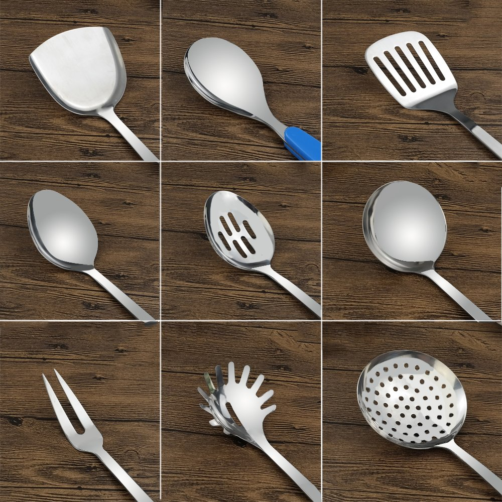 Fiaze Stainless Steel Kitchen Cooking Utensil Set, 10-Piece by Fiaze (Image #3)