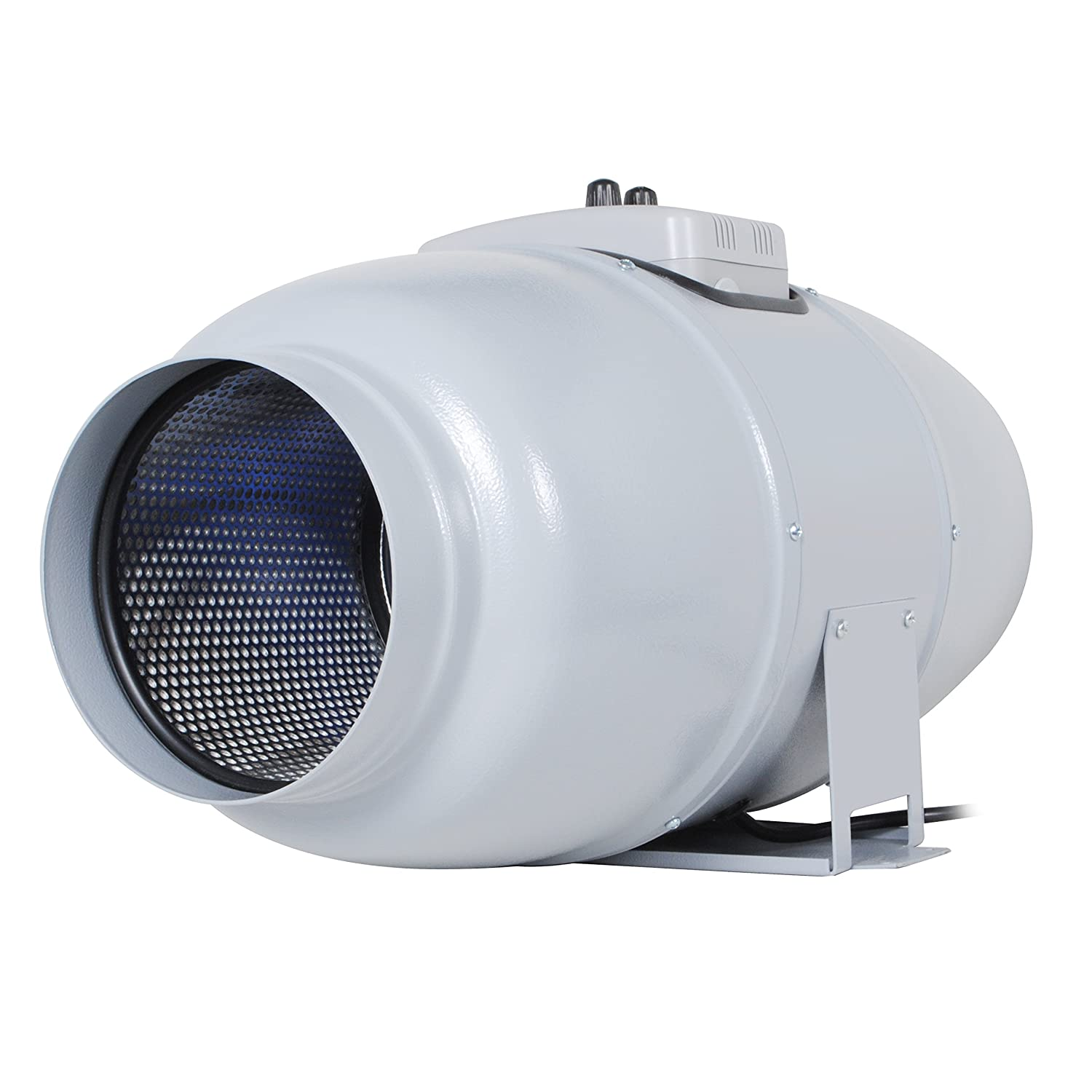 "Inline Fan ""Silent Series"" For 6 Inch Ducts 327 CFM 67W Ultra Quiet Sound lnsulated HVAC Vent and Grow Room Exhaust Blower with Speed Controller and Autopilot 33 dBA 13.89 Lb"
