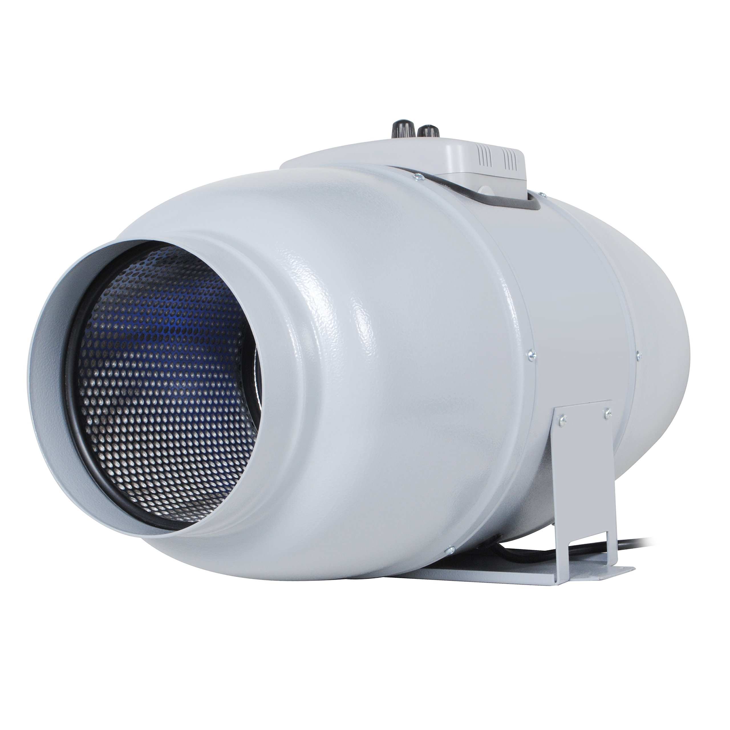 Inline Fan ''Silent Series'' For 6 Inch Ducts, 327 CFM, 67W, Ultra Quiet Sound lnsulated HVAC Vent and Grow Room Exhaust Blower with Speed Controller and Autopilot, 33 dBA, 13.89 Lb