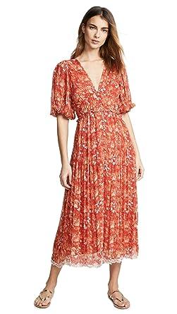 4a6621446a3 Hemant and Nandita Women s Dawn Midi Dress at Amazon Women s Clothing store