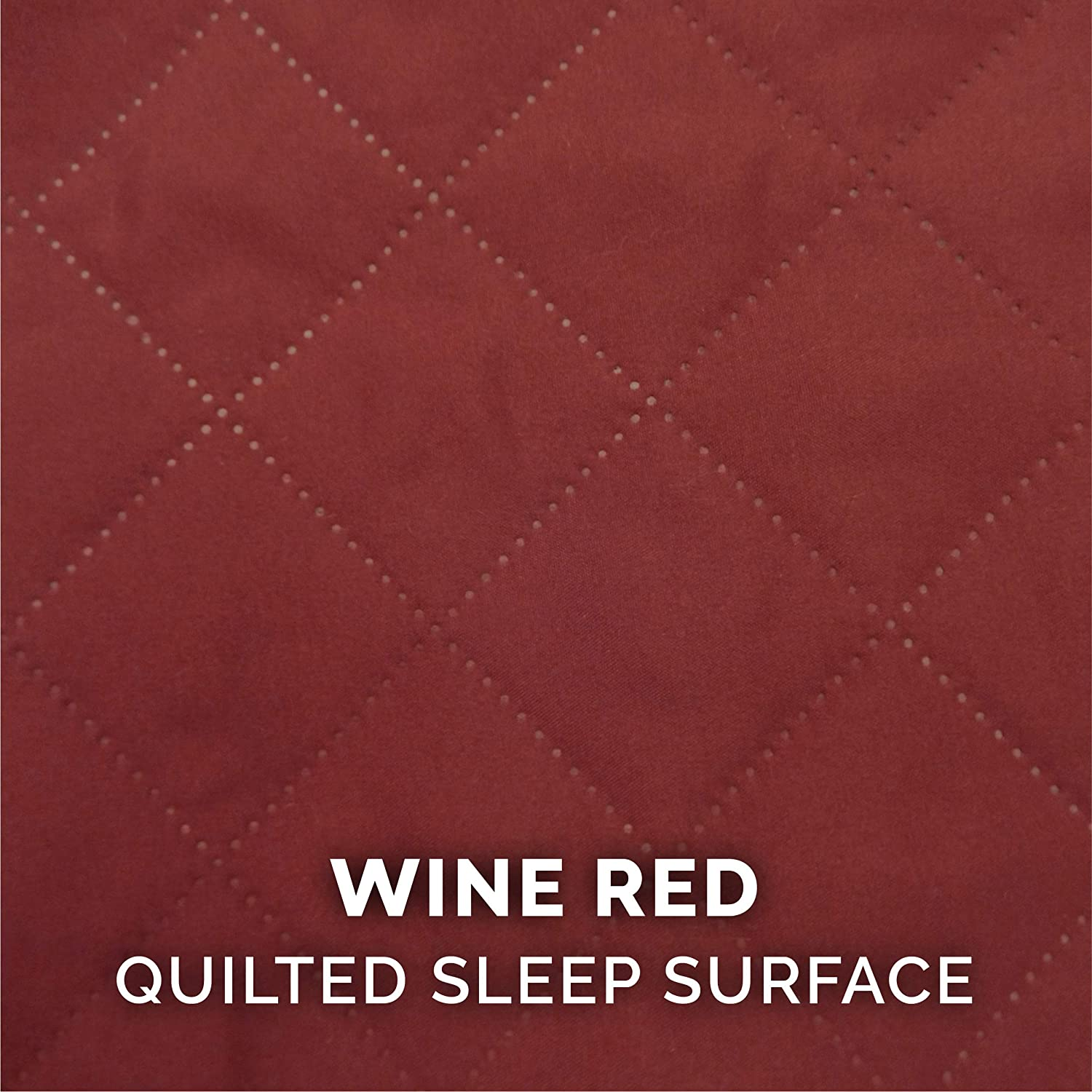Orthopedic Quilted Sofa-Style Couch Pet Bed for Dogs /& Cats Wine Red Jumbo Furhaven Pet Dog Bed