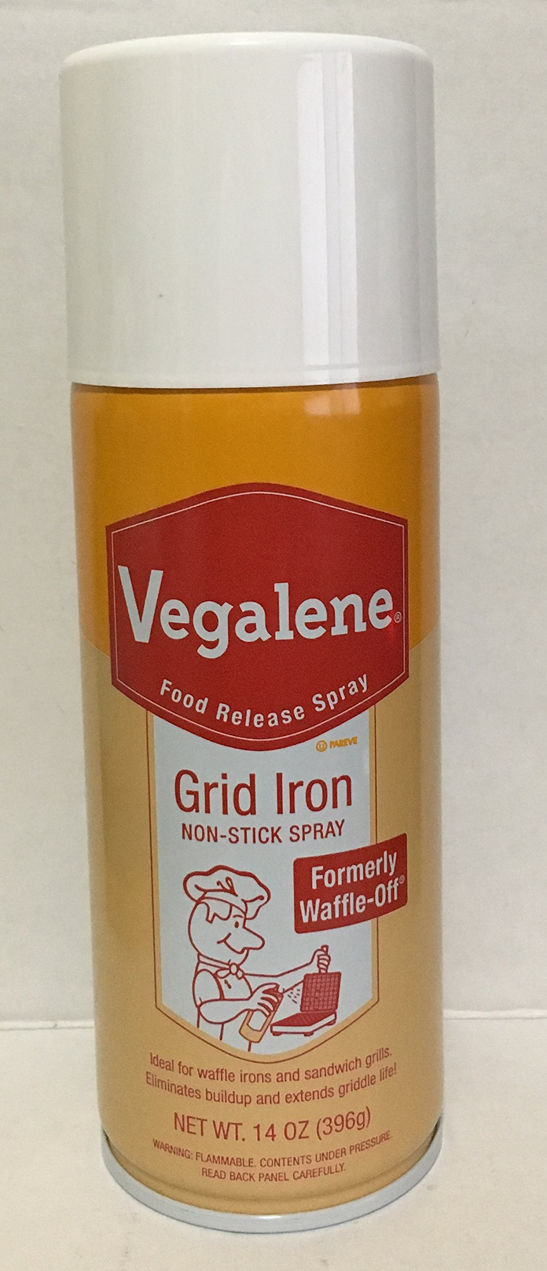 14oz Vegalene Grid Iron Food Release Cooking Spray, Formerly Waffle-Off (Pack of 1)