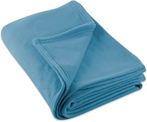 DII Luxury Fleece Blanket, Twin/Twin X-Large, Copen Blue