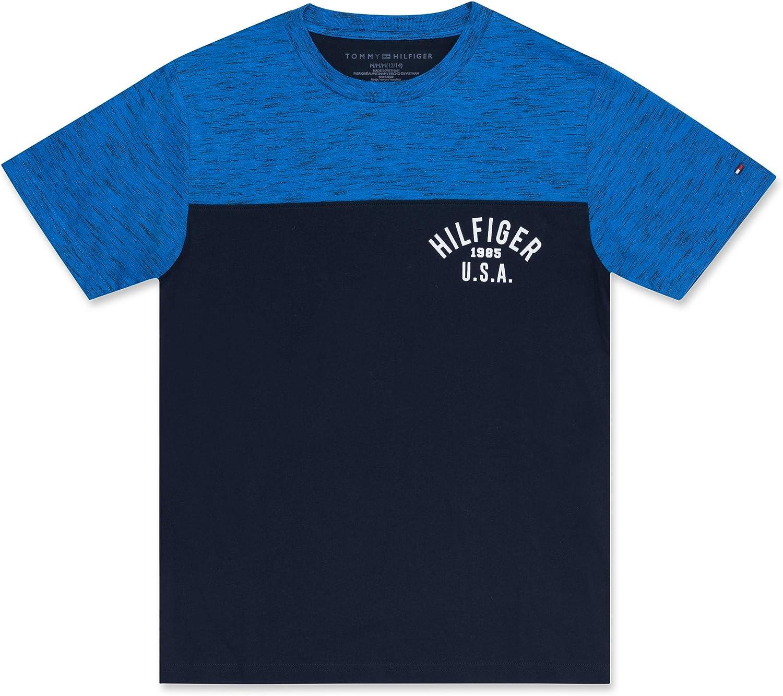Tommy Hilfiger Boys Short Sleeve Colorblock Vertical Logo Polo