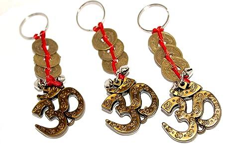 Amazon.com: M vir Om llavero con chino Feng Shui moneda de ...