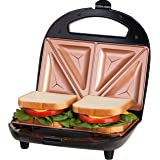 GOTHAM STEEL Sandwich Maker, Toaster and Electric Panini Grill with Ultra Nonstick Copper Surface - Makes 2 Sandwiches in Min