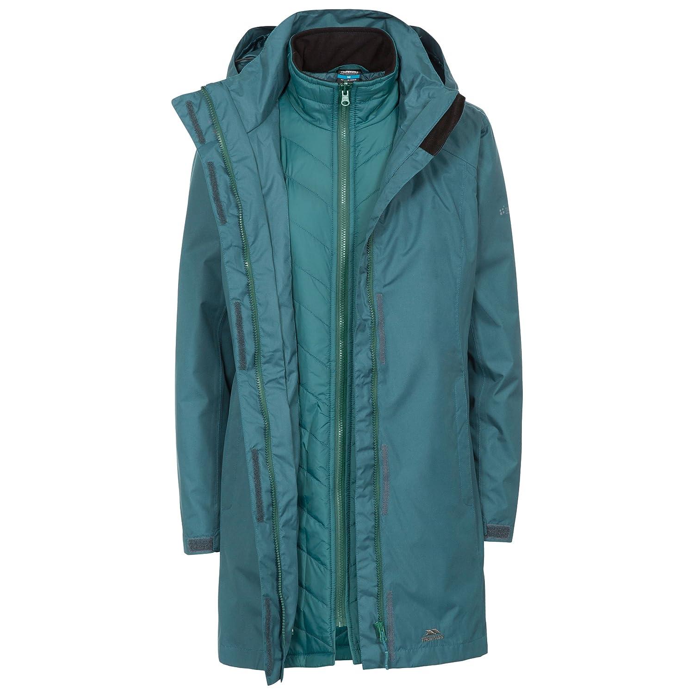 Trespass Alissa II Wasserdichte 3-in-1 Regenjacke / Funktionsjacke / Wetterjacke mit Kapuze, herausnehmbare Innenjacke aus Fleece für Damen,