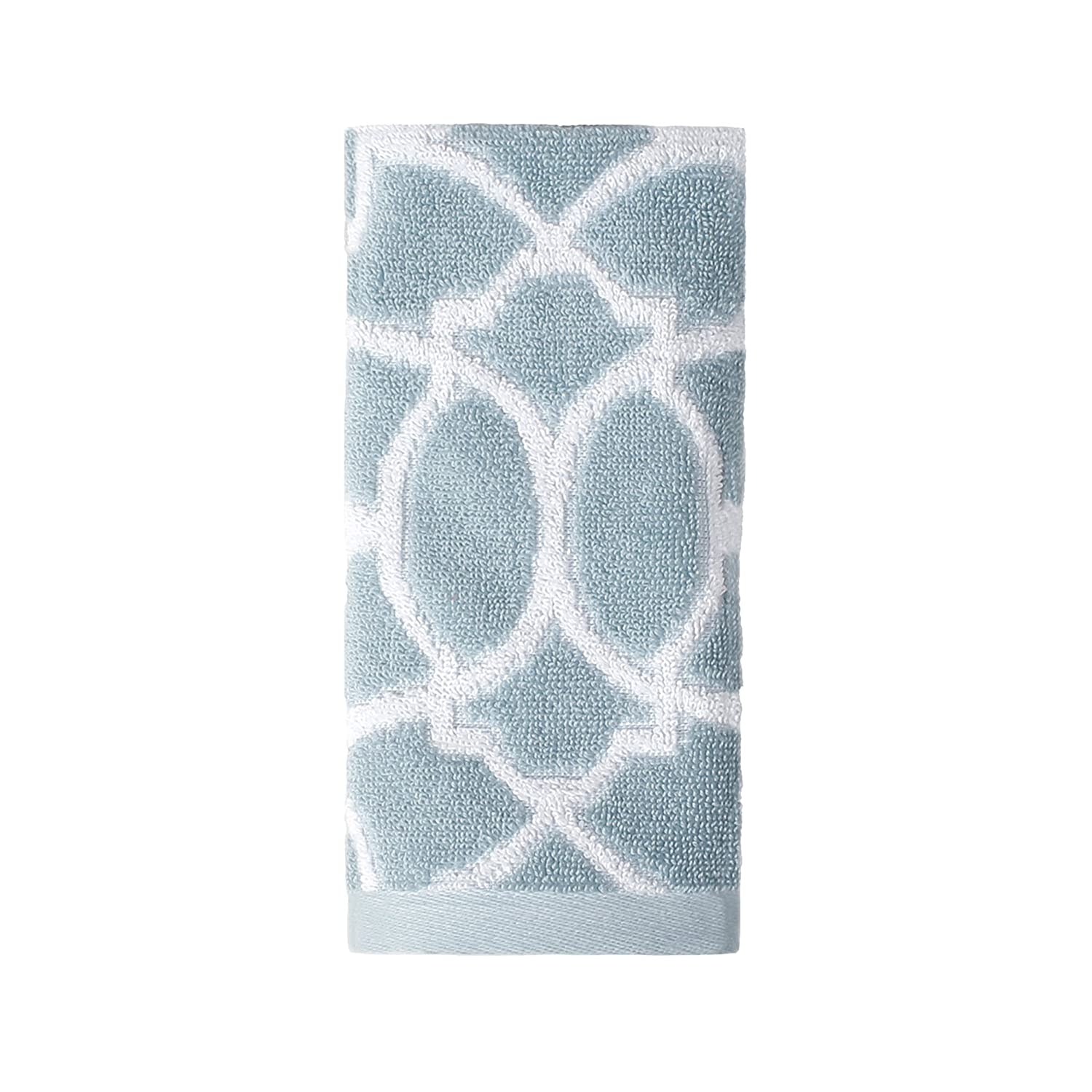 Saturday Knight Watercolor Lattice Tip Towel, Blue hot sale 2017