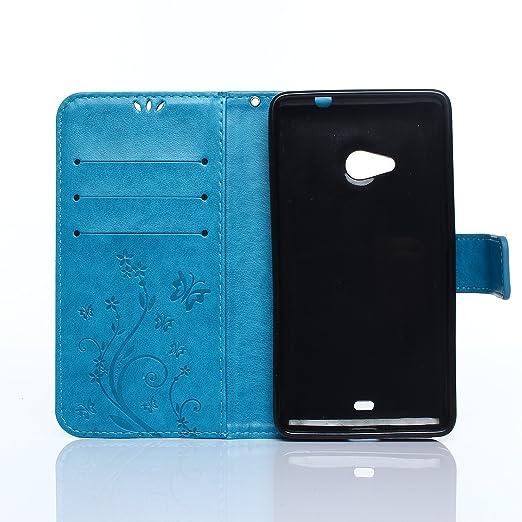 47 opinioni per ZeWoo Folio Custodia in PU Pelle- R149 / Classico blu- per Microsoft Lumia 535