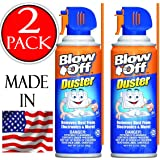 Compressed Air Duster Can MAX Professional Cleaner 1229 Blow Off Non-toxic & No Bitternt 3.5oz. Stop the Build-up of Dust in Your Electronics, Clogging up the Cooling Fan.