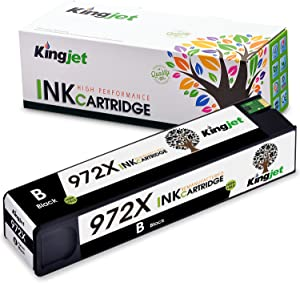 Kingjet Compatible Ink Cartridge Replacement for 972X Work with PageWide Pro 477dn, 477dw, 577dw, 577z, 552dw, 452dn, 452dw Printers, 1 Pack(Black)
