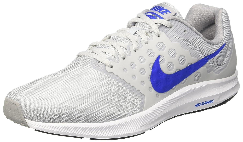 Silber (Pure grau Platinum Hyper Cobalt-wolf grau-Weiß) Nike Herren Downshifter 7 Laufschuhe, schwarz