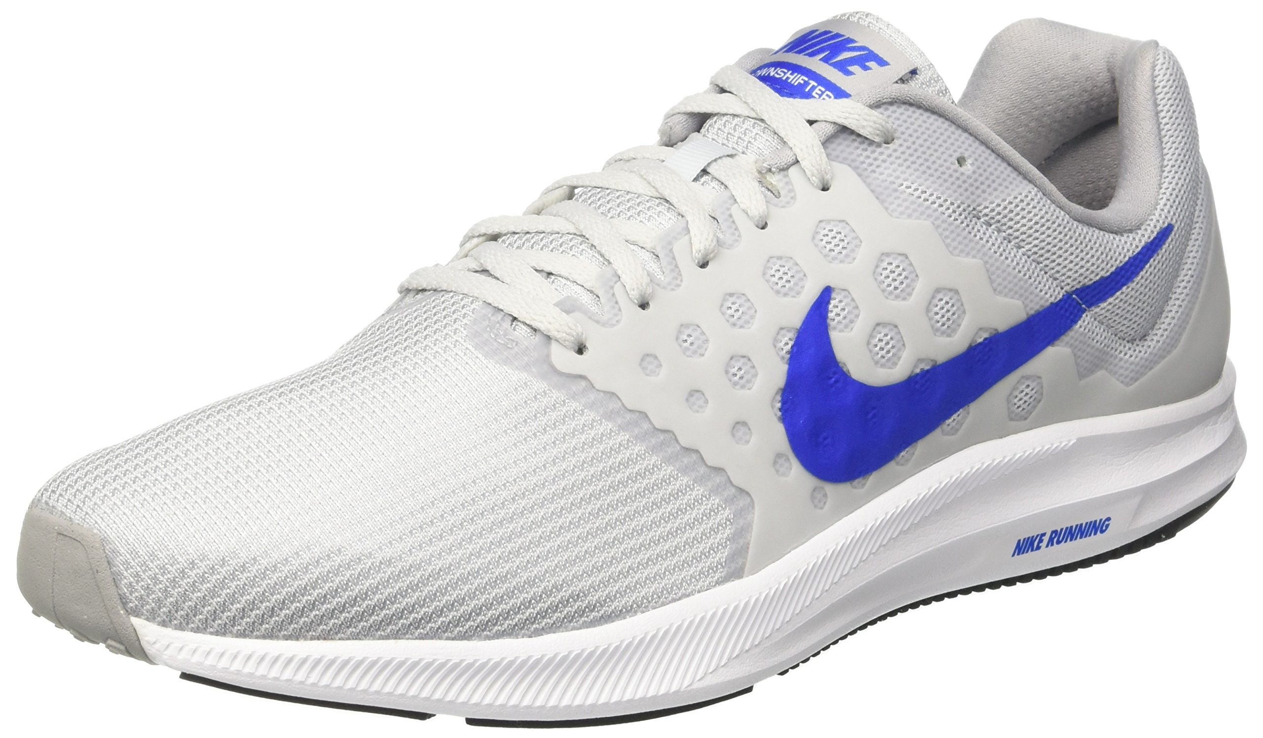 c5467ae1741b1 Galleon - NIKE Men s Downshifter 7 Running Shoe Pure Platinum Hyper Cobalt Wolf  Grey Size 9 M US