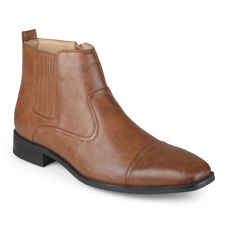 115a9f09468 Amazon.com | Vance Co. Mens Faux Leather Cap Toe Dress Boots | Boots