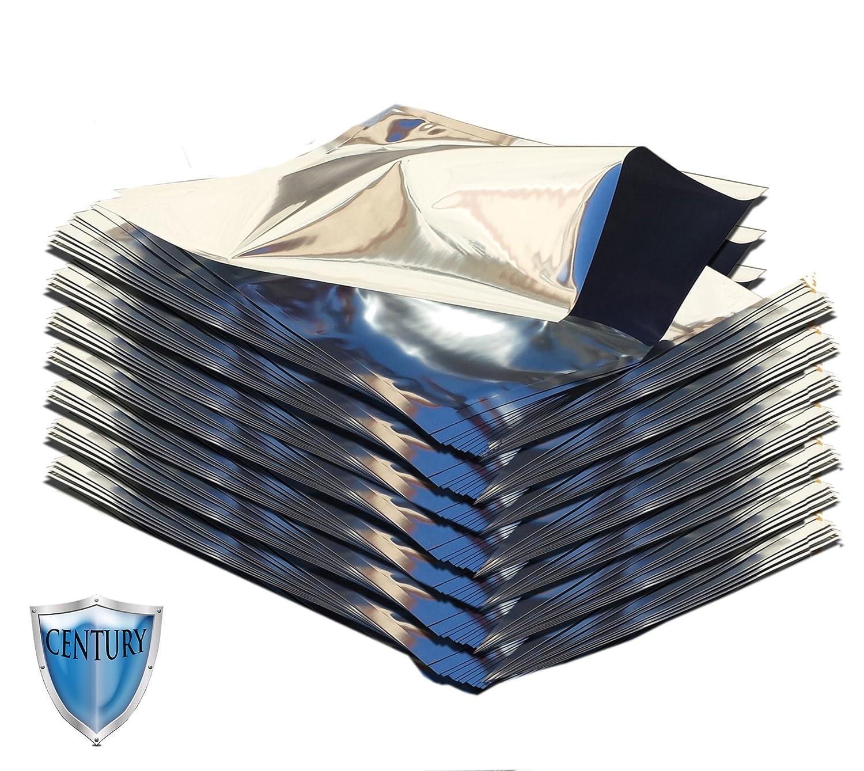 Gallon 5 Mil Premium Century Mylar Bags with PackFreshUSA LTFS Guide (100) MAQC-P