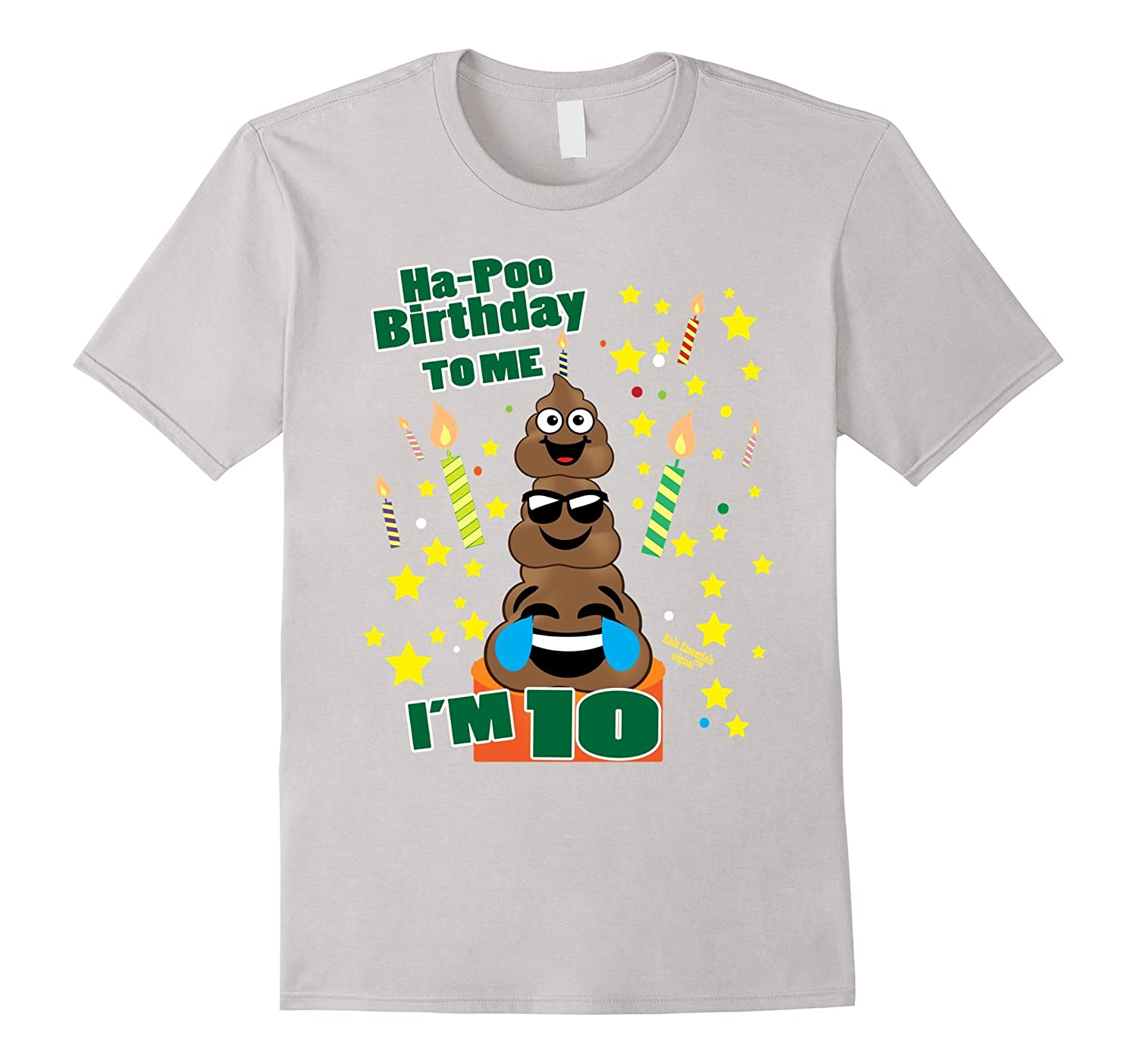 Poop Emoji Birthday Shirts Age 10 Its My Ha Poo Cake TH