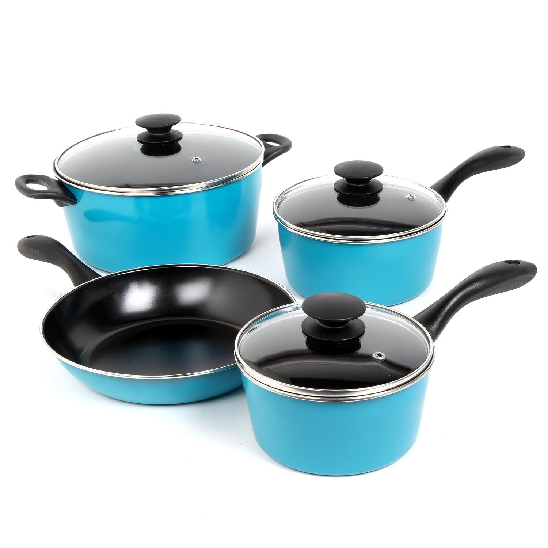 Amazon.com: Sunbeam 91504.07 Armington 7-Piece Cookware Set, Teal ...