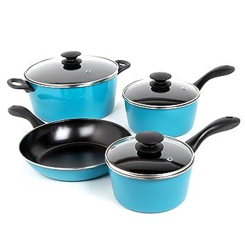 Lujo Sunbeam 91504.07 Armington 7 piezas Batería de cocina azul ...