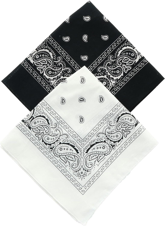 Umo Lorenzo Black and White Duo Bandana Pack Pack of 2