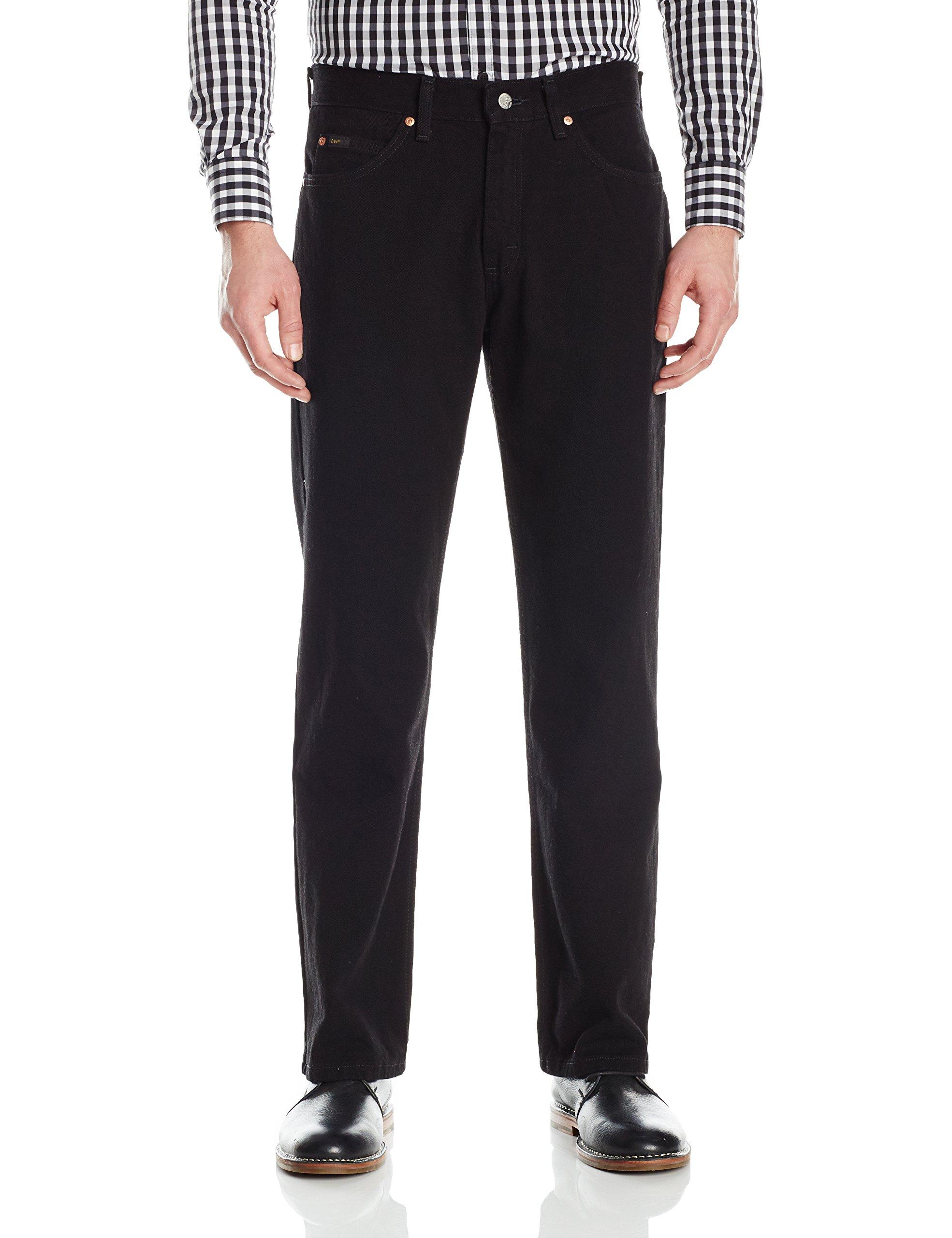 LEE Men's Regular Fit Bootcut Jean, Double Black, 33W x 32L