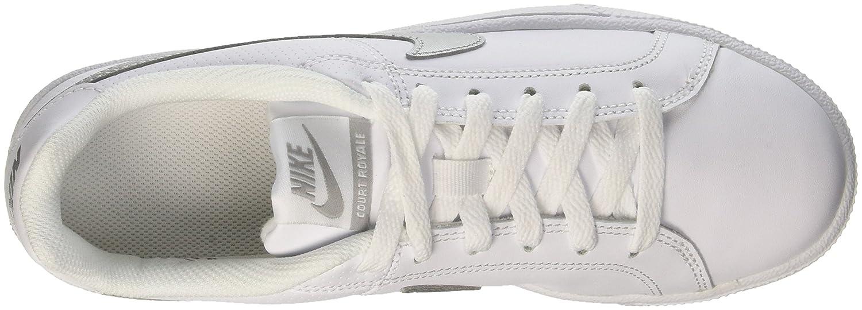NIKE Women's Court Royale Casual Shoe B00PZB2FWK 5.5 B(M) US|White Metallic Silver