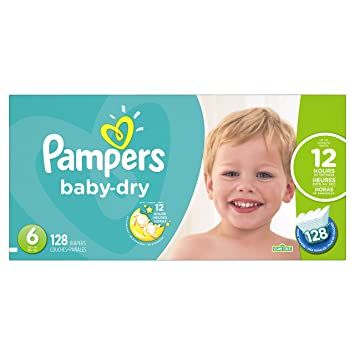 31f08a43c90 Image Unavailable. Image not available for. Color  Pampers Baby-Dry  Disposable Diapers Size 6 ...