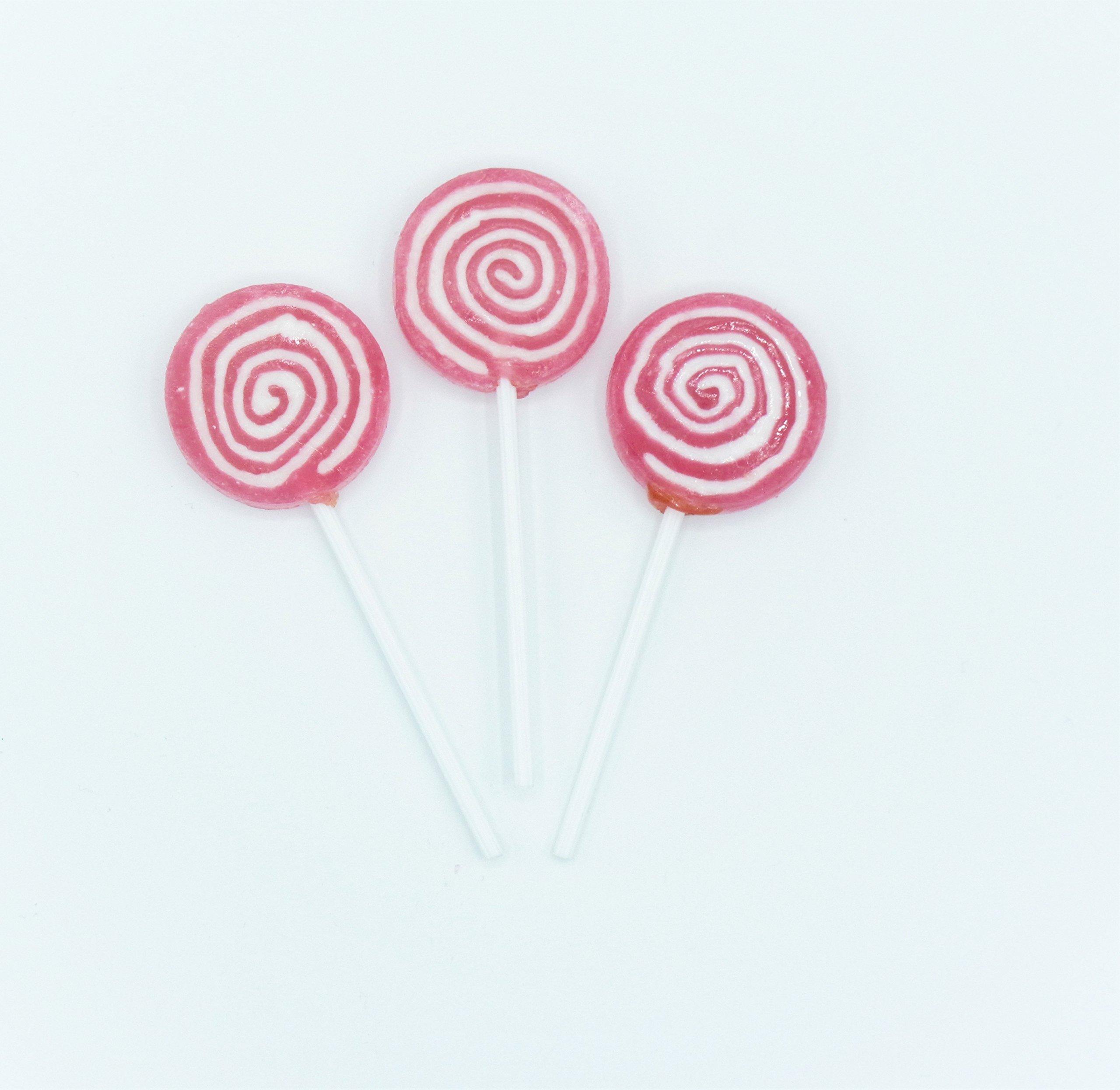 Candy Shop Pink Swirl Lollipops - 42 Pieces (1 lb Bag)