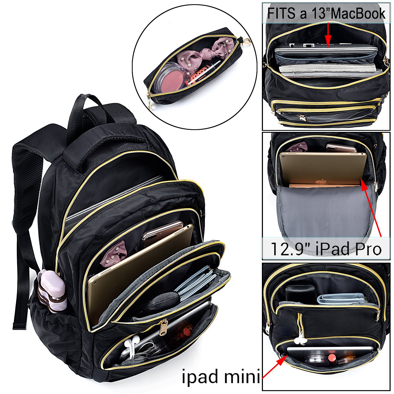 UTO Fashion Backpack Oxford Waterproof Cloth Nylon Rucksack School College Bookbag Shoulder Purse with Pencil Bag