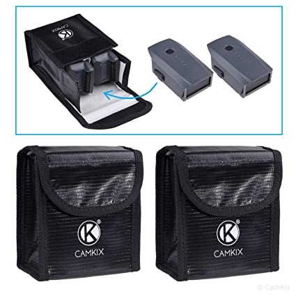 CamKix Bolsa de batería LiPo a Prueba de explosiones Compatible con dji Mavic Pro/Platinum
