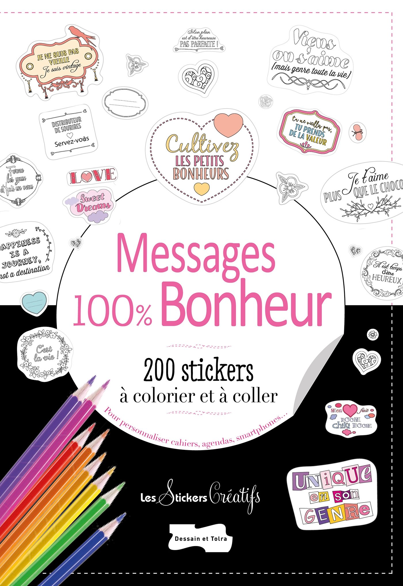 amazon fr 200 stickers à colorier messages petits messages 100