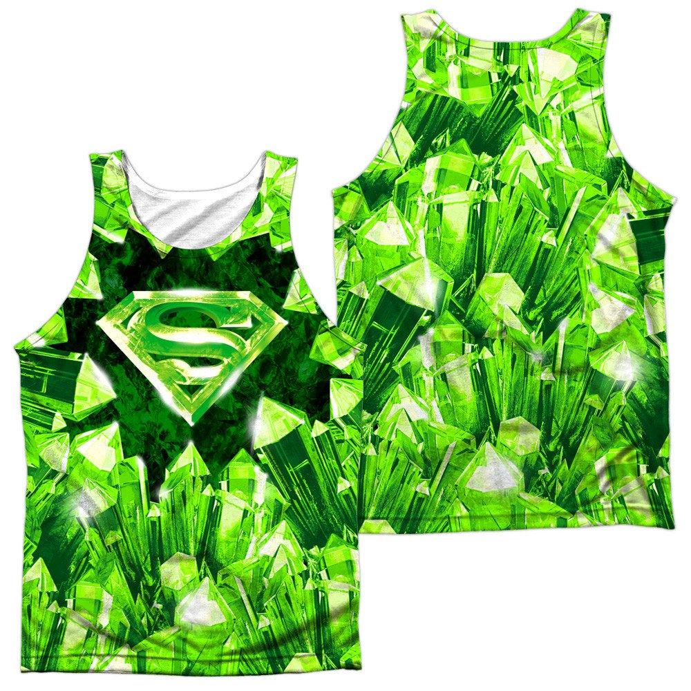 Kryptonite Shield Adult Tank Top Superman
