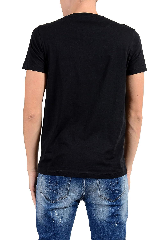ROBERTO CAVALLI Mens Black Graphic Crewneck T-Shirt Size US XL IT 54