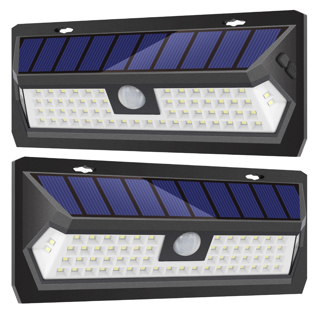 InnoGear Upgraded Solar Lights Outdoor Motion Sensor Wall Light Auto On/Off with 3 Modes Outdoor Waterproof Security Lights Night Light for Wall Fence Deck Yard Garage Driveway, Pack of 2