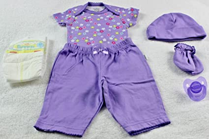 Amazon.com: Reborn OOAK manoplas niña flor Onesie pantalones ...
