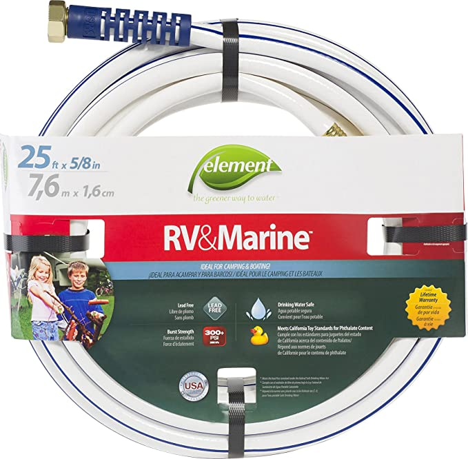 Amazon.com: Element ELMRV58025 Marine/RV Camping and Boating Water Hose 25 ft, 5/8