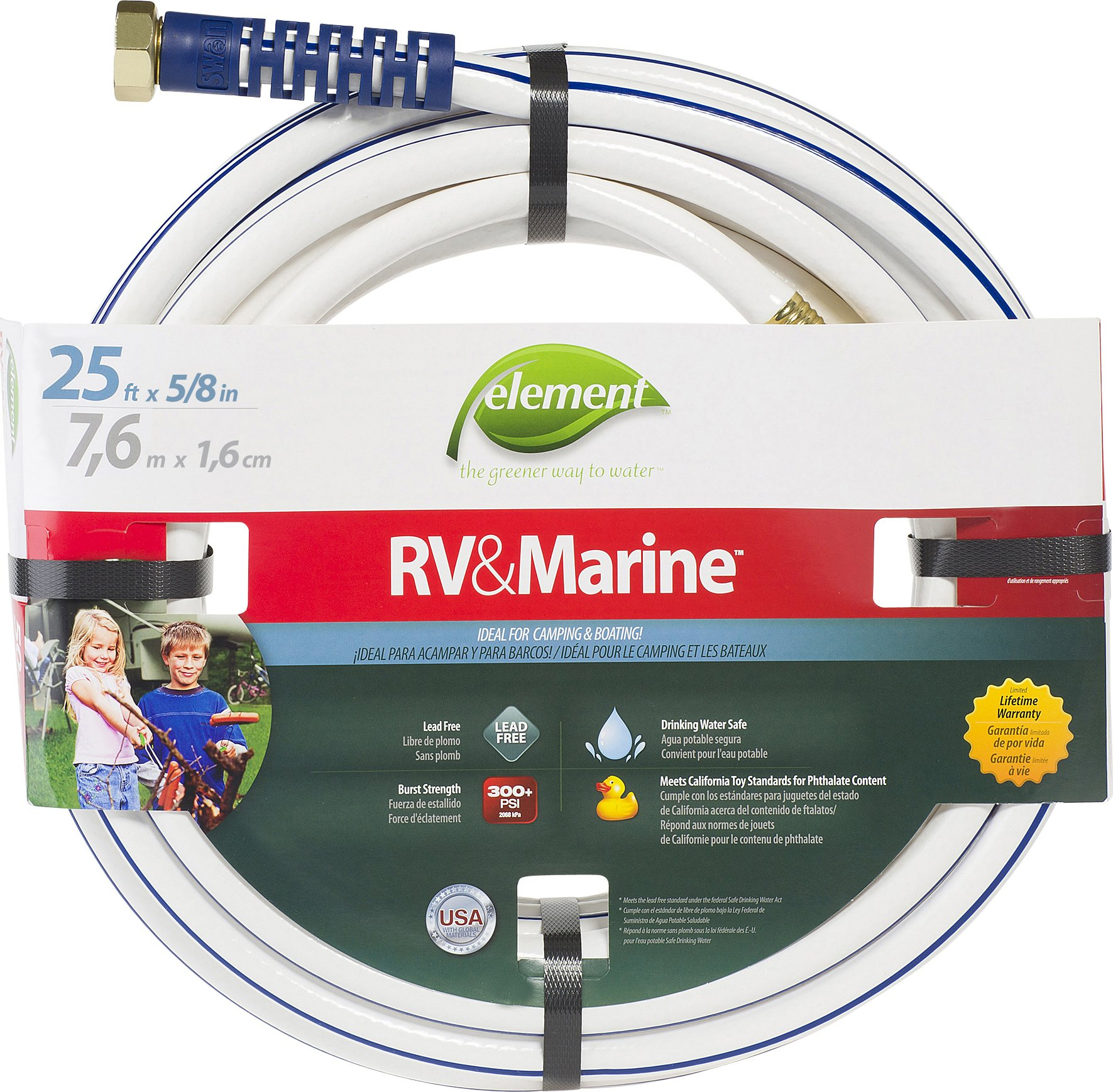RV Drinking Water Hose 25ft x 5//8in ID Food Grade Lead Free Trailer Camper Part