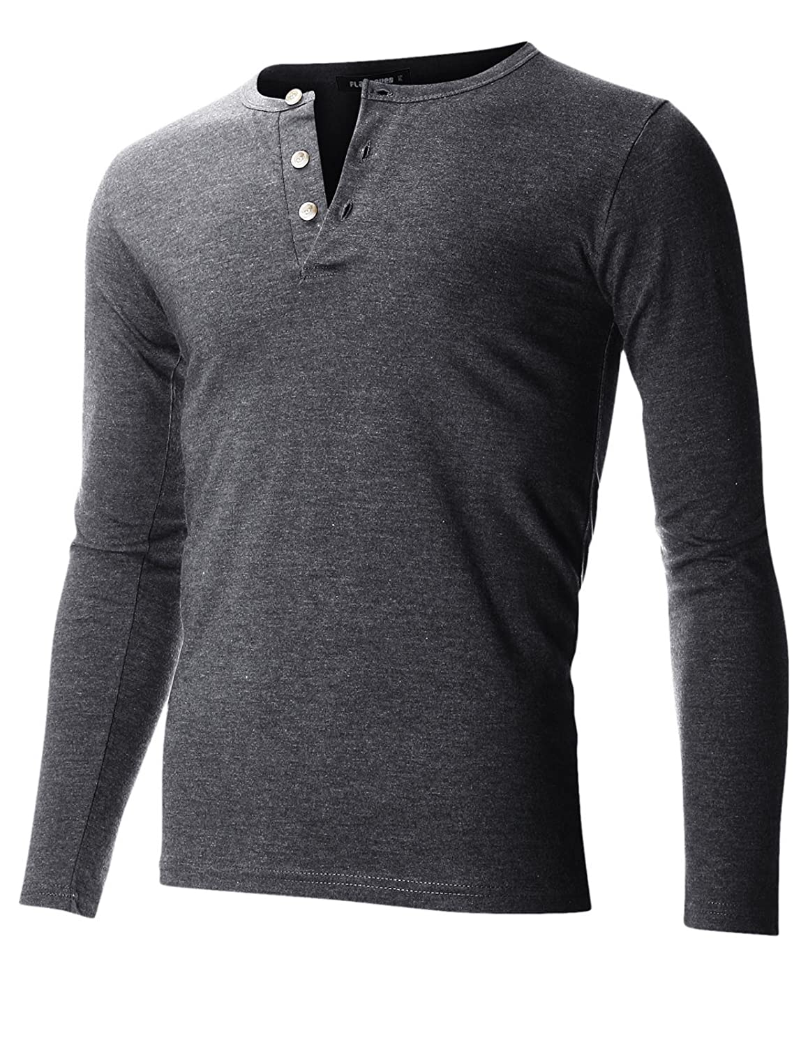 Men's Casual Henley Shirt With Button