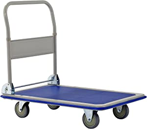 "Muscle Rack FPC3623 Heavy Duty 660 lb. Capacity Folding Platform Cart, 11.02"" Height, 23.2"" Width, 35.4"" Length, 660 Pounds Load Capacity"