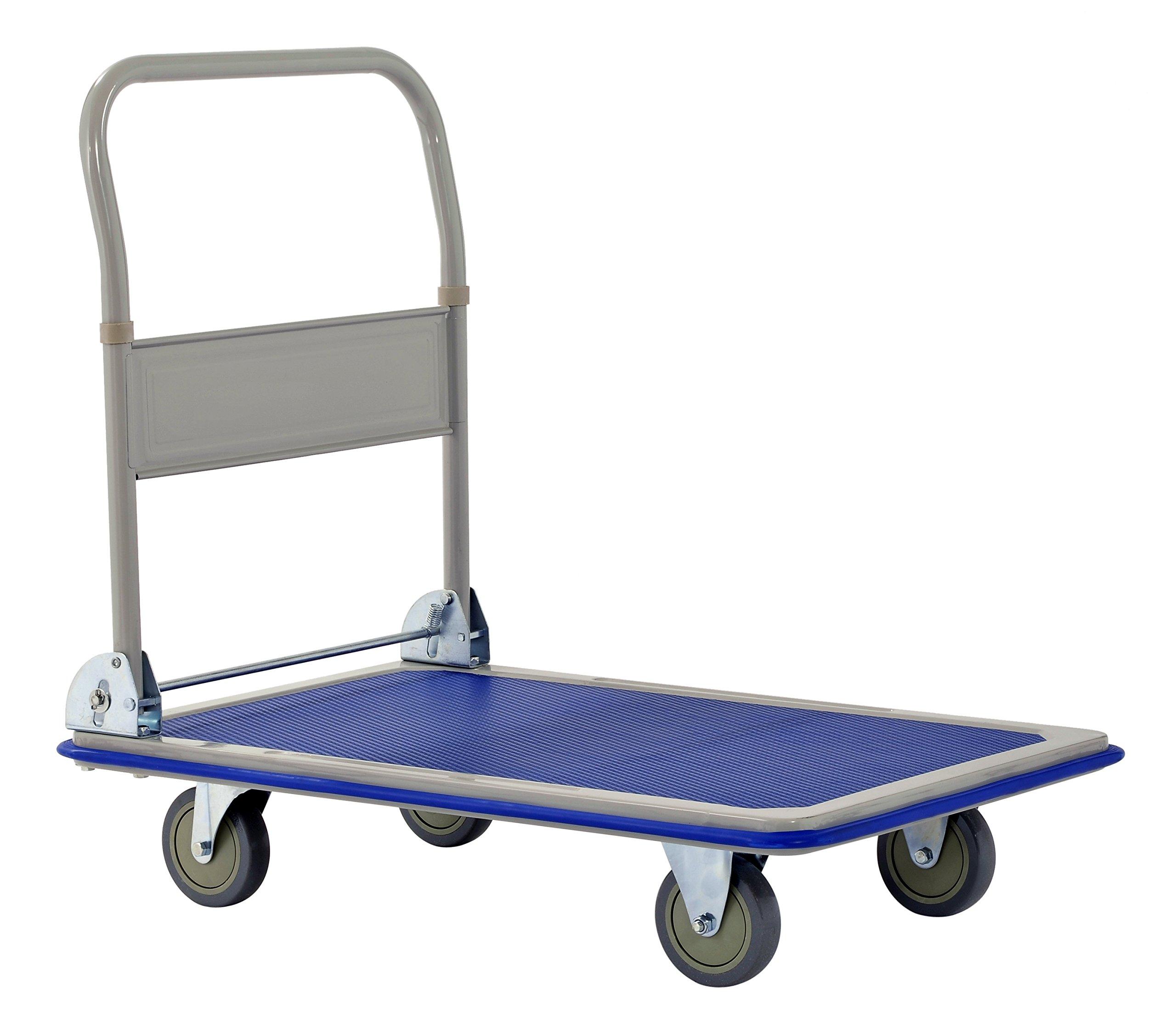 Muscle Rack FPC3623 Heavy Duty 660 lb. Capacity Folding Platform Cart, 11.02'' Height, 23.2'' Width, 35.4'' Length, 660 Pounds Load Capacity