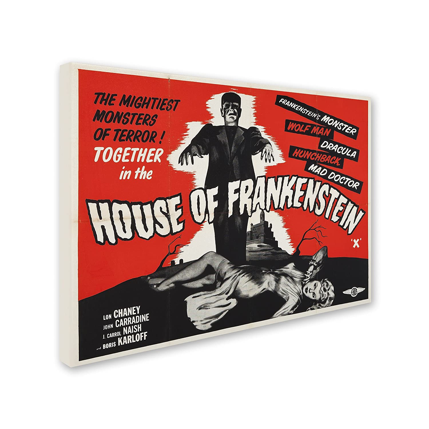 House of Frankenstein Artwork by Vintage Apple Collection, 35 by 47-Inch Canvas Wall Art
