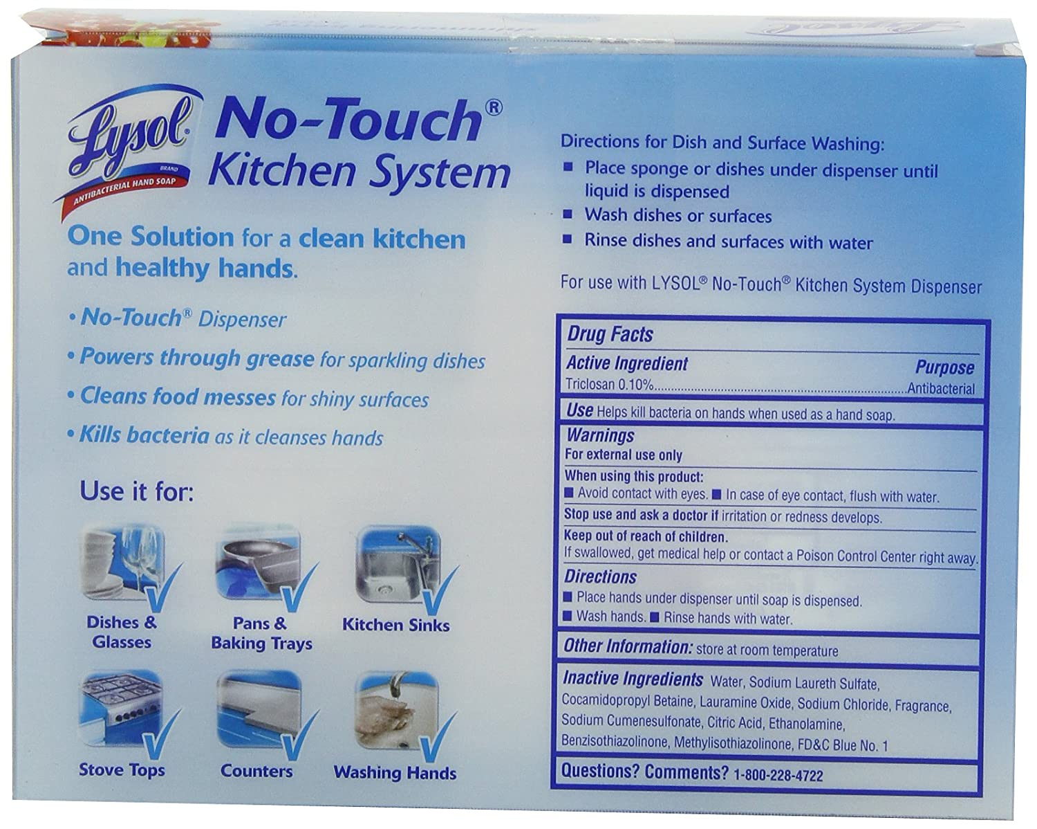 Amazon.com: Lysol No Touch Twin Refill Kitchen System, Berry, 17 ...