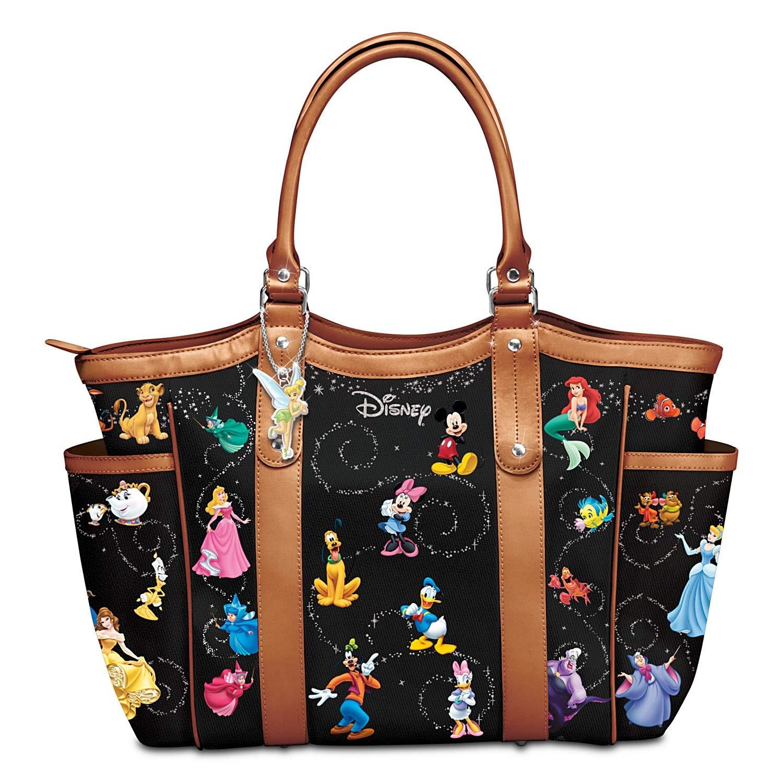5b71d2600912 The Bradford Exchange Disney Handbag With Character Art And Tinker Bell  Charm  Handbags  Amazon.com