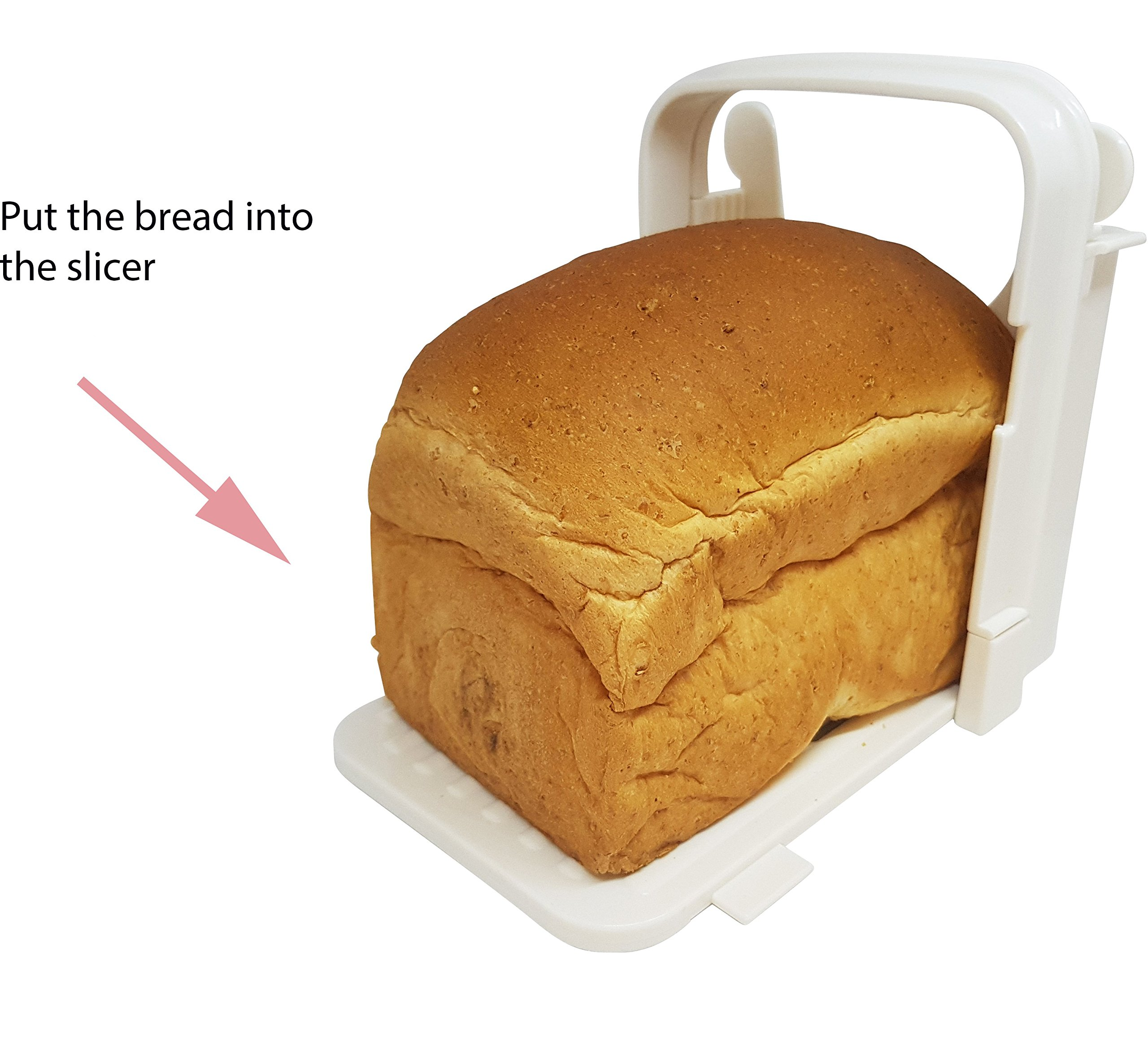 Eon Concepts Bread Slicer Guide For Homemade Bread With Mini Bread Recipe E-Book | Loaf Cutter Machine - Foldable Adjustable & Customizable to 5 Thickness | Bagel / Sandwich / Toast Slicer by Eon Concepts (Image #3)