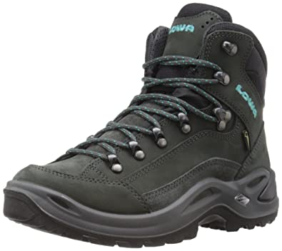 Lowa Women's Renegade GTX Mid WS Hiking Boot, Anthracite/Turquoise, ...