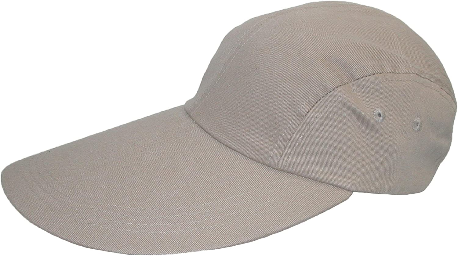 CareforYou/®Plain 100/% Cotton Men Women Baseball Cap/ Hat Sunbuster Long Bill Cap Velcro Solid Color Adjustable
