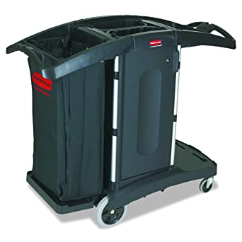 Rubbermaid Executive Series – Carro de limpieza compacto plegable, negro