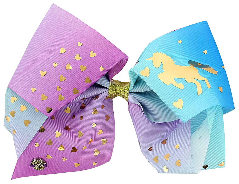 "8/""JoJo Hair Bows Clips Grosgrain Mermaid Scales Rainbow Girls Hair Accessories"
