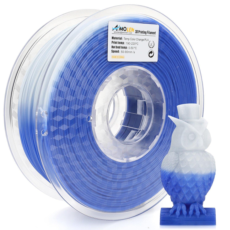 AMOLEN Filamento de impresora 3D, cambio de color de temperatura ...