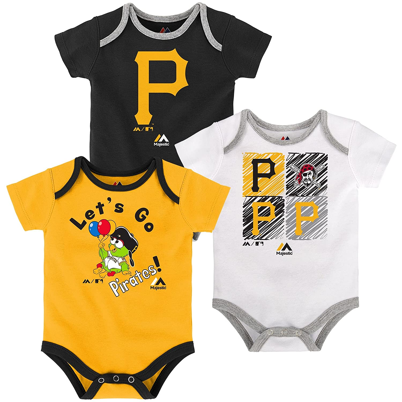 上質で快適 Pittsburgh Piratesベビー Piece/幼児Go Team Creeper 3 Piece Creeper Set B0718TSMWW 18 Months B0718TSMWW, アリスフローラ パール癒し雑貨:2633eb02 --- a0267596.xsph.ru